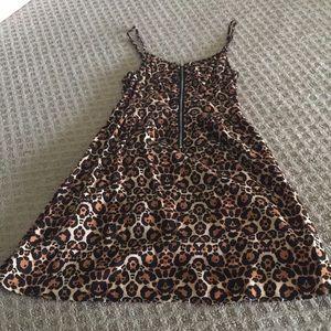 Leopard Print H&M Spaghetti Strap Dress